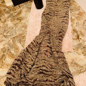 NICOLE MILLER Leopard Ball Gown